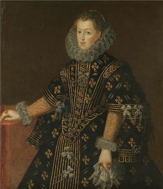 1607 Margaret of Austria, Queen of Spain (1584–1611) by Juan Pantoja de la Cruz