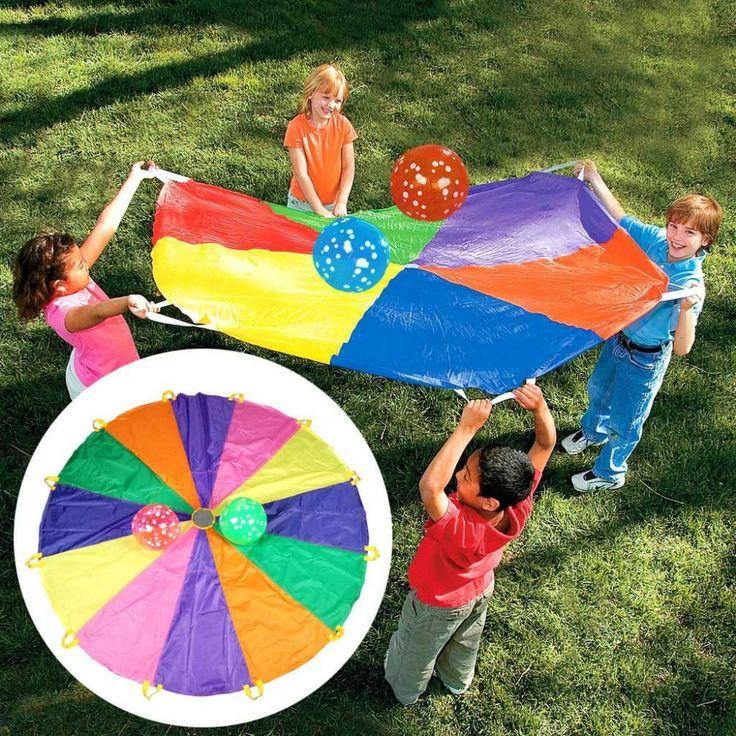 Купить 182 см 365 см 610 см детская детская парашютом радуга игры на улице упражнение спорт учебного оборудованияи другие товары категории Игровой спортв магазине Simingyou ToysнаAliExpress. оборудование компоненты и игры линз