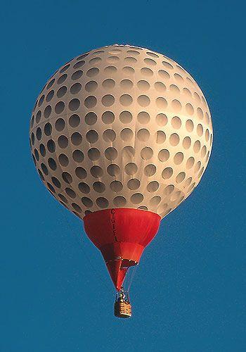 Yep. This is awesome.   Globo en forma de pelota de #golf.