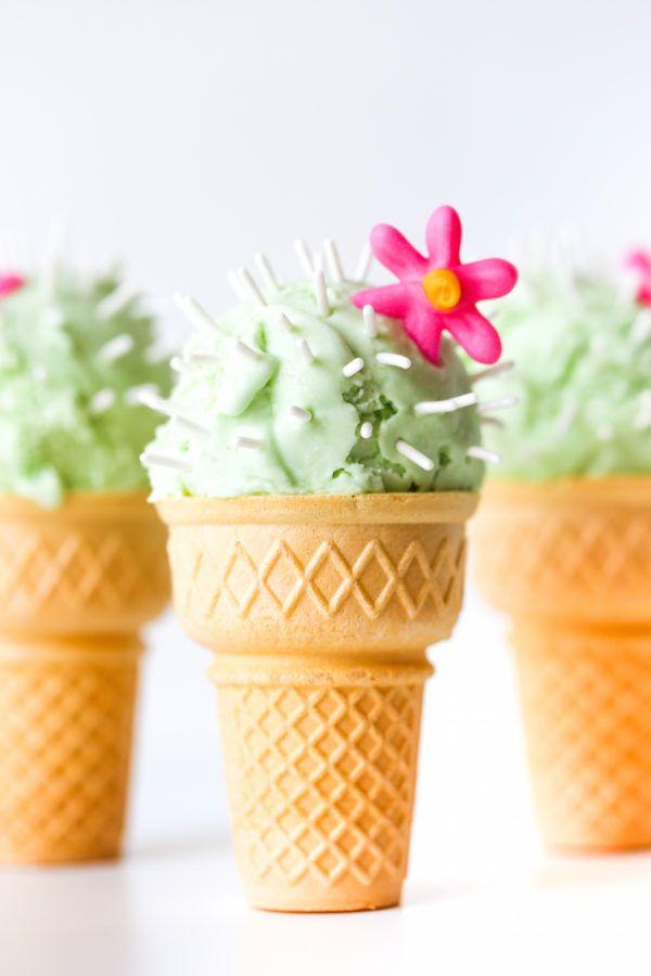 Cactus Ice Cream Cones | studiodiy.com