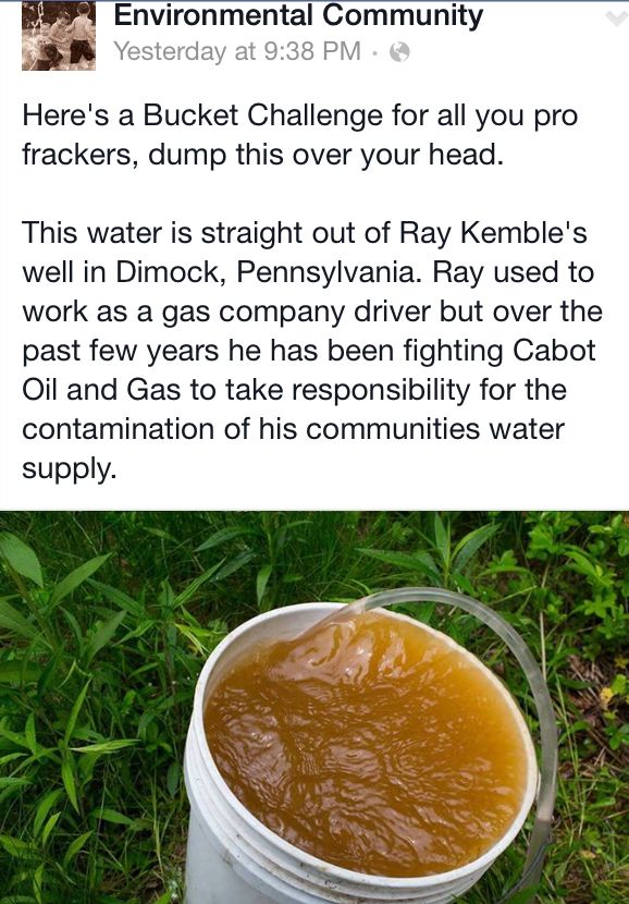 Ray and others were told that his water was safe to drink by these officials, so he decided to offer them a swig of some good ol' Dimock Pale Ale. When seeing the color of his well water, the toxicologist and EPA official declined to drink the water.