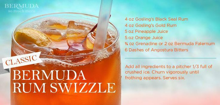 Who's in the mood for a refreshing drink? Get a taste of the island with a Bermuda Rum Swizzle recipe from Gosling's Rum!