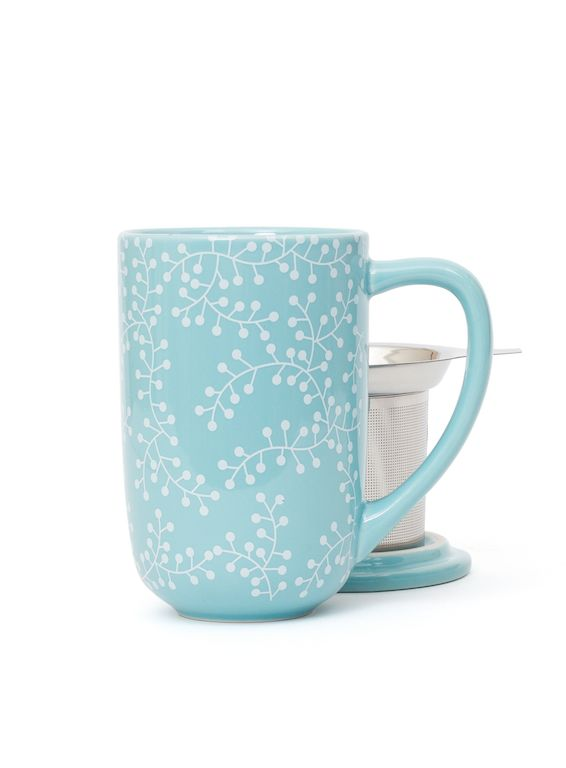 WINTER 2013 Icy blue on the outside, warm soothing tea on the inside. Nordic Mug with infuser & lid.