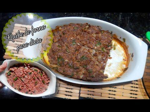 QUIBE ASSADO PARA DIETA DUKAN e RA: Na cozinha com Jackeline Jor