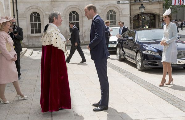 Prince William, Duke of Cambridge attends a lunch after the National Service of Thanksgiving as part of the 90th birthday celebrations for The Queen at The Guildhall on June 10, 2016 in London, England.