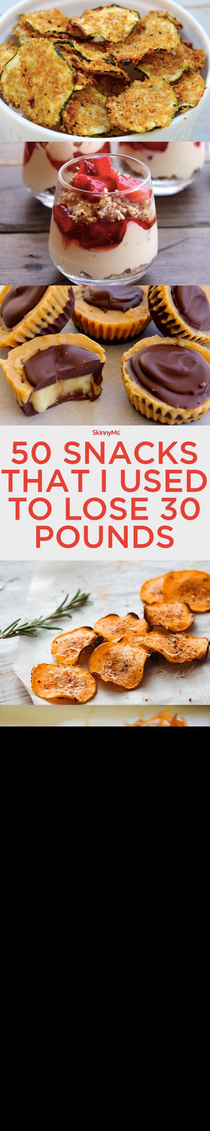 50 Snacks That I Used to Lose 30 Pounds. Includes SmartPoints for every recipe!
