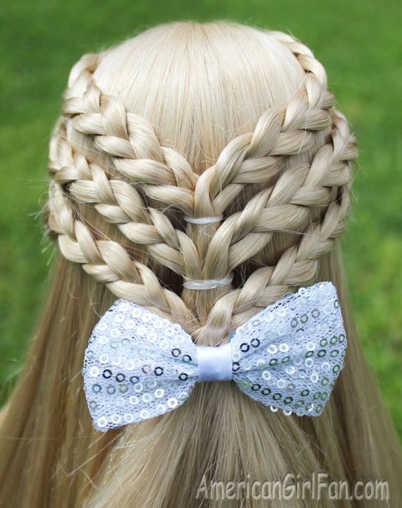 Triple Braided Half-Up Hairstyle