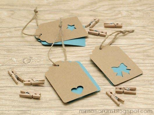 Etiquetas con doble capa para regalos.