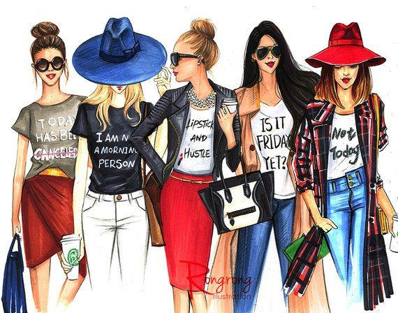 This Is A Limited Edition Print Of My Fashion Illustration Only 25 Avaliable Great Fun Fash Fashion Illustration Print Fashion Sketches Fashion Illustration