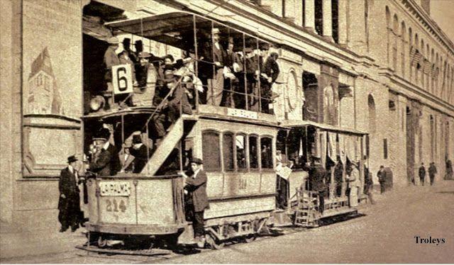 Troley en Santiago de Chile, 1900
