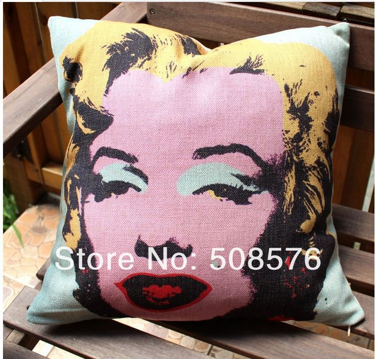 Printed Linen Pillow Cover