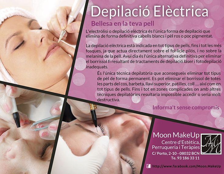 Nou Servei Depilació Elèctrica  Bellesa en la teva pell  L'electròlisi o depilació elèctrica és l'única forma de depilació que elimina de forma definitiva cabells blancs i pèl ros o poc pigmentat.