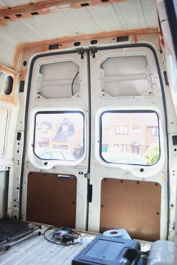 Van conversion how to install bonded rear windows ford transit campervan interiorford