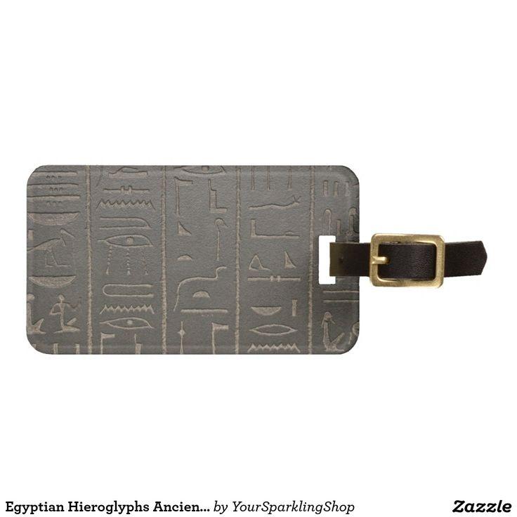Egyptian Hieroglyphs Ancient Egypt Writing Symbols Luggage Tags