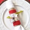Upcycled Christmas Napkin Rings and Place Cards | AllFreeChristmasCrafts.com