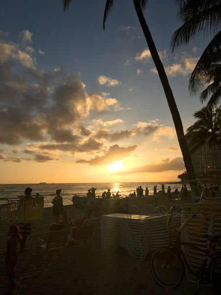 Things to do on O'ahu✨ Waikiki sunset #waikiki#waikikisunset#oahu#hawaii#honolulu#travelling