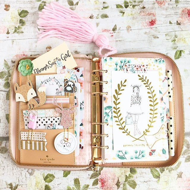 I think they are match made in heaven . November Planner Society kit & and Kate Spade Rose gold = bff. #justsaying #plannerheaven #madeforeachother