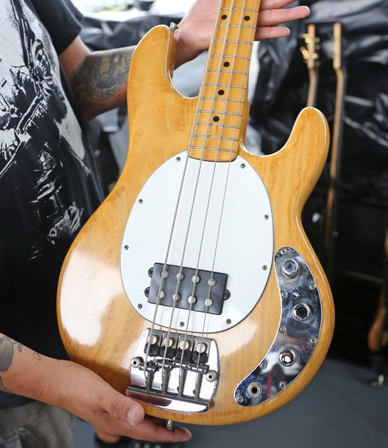 John Taylor's MusicMan Stingray, formerly of Bernard Edwards.