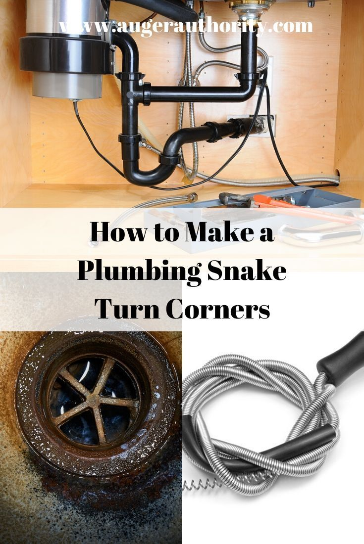 How To Get A Drain Snake Around A Corner Drain Plumbing Tools Plumbing