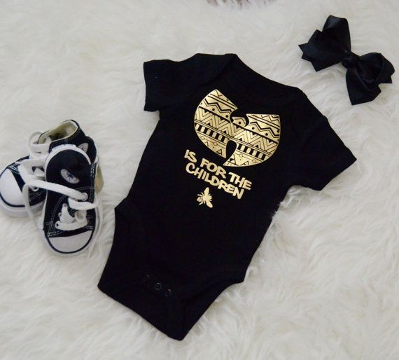 wu-tang is for the children onesie / wu tang baby by SinKittyDsgn