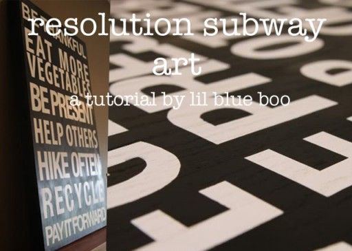 Resolution Subway Art via liblueboo.com