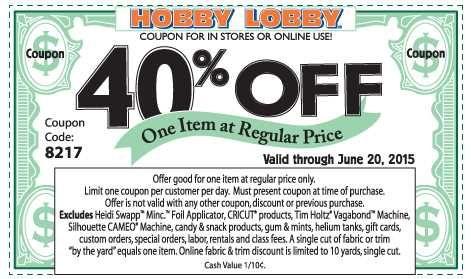 Hobby Lobby Coupon Hobby lobby coupon, Hobby lobby