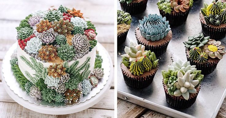 Self-taught and based in Jakarta, passionate baker Ivenoven celebrates nature with her lush and lifelike succulent cakes.