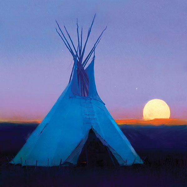 Tee-Pee: Moon, Dreams Home, Dreams Houses, Little Houses, Art, Canvas, Backyard, Painting, Native American