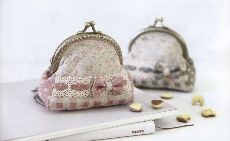 Mini Bow coin purse Bag Handbag Wallet hand embroidery stitch sewing applique patchwork quilt PDF E Patterns. $5.00, via Etsy.