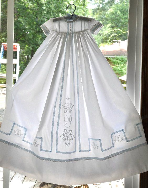 Connie Palmer's christening gown with lace tape