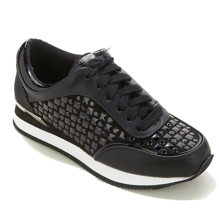 Yellow Box® Aside Studded Sneaker - Black