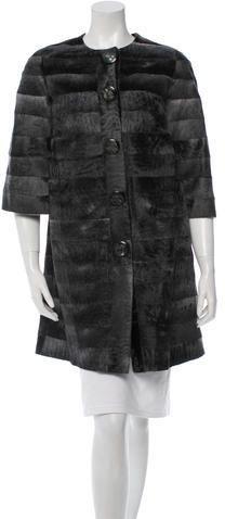 Petrou Three-Quarter Sleeve Fur Coat