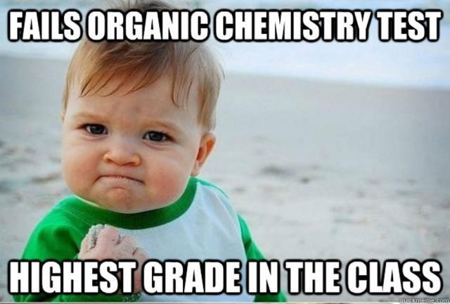 Best Chemistry Memes: Success Kid Passes Organic Chemistry