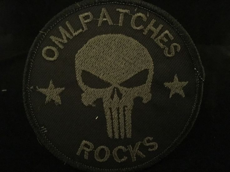 Blackout Team Template Punisher Custom Patch