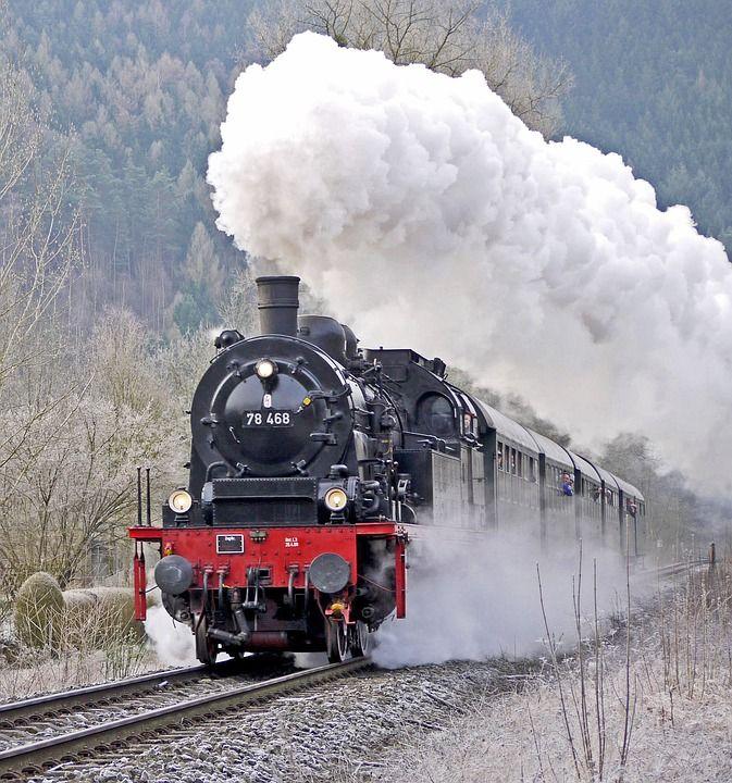 Locomotive À Vapeur, Train De Voyageurs, Train Tôt                                                                                                                                                                                 Plus