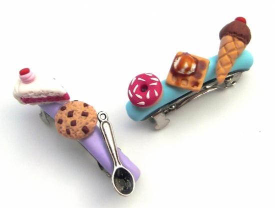 1f84b8490 Dulces pasadores para el pelo | Lindos lazos y flores ¡Empieza a hacerlos!  | Artesanías y manualidades, Manualidades y Arcilla de polímero