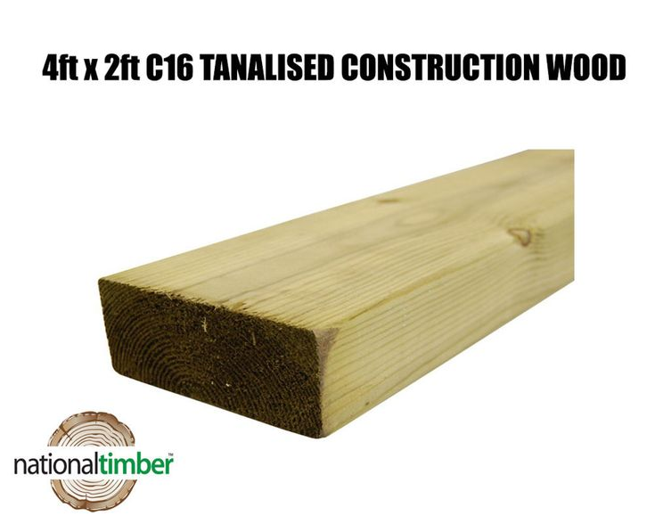 For Sale 4x2 C16 Tanalised Pressure Treated Timber  3 metre (10ft) Length  The Nominal Size is Ex 100mm x 50mm Finished size at 95mm x 45mm  This beautiful softwood timber has been planned on all four sides and has rounded edges allowing easy handling.  This timber is typically used for stud walls in houses but also can be used for many other uses. This Timber is ideal for for wall partitioning due to being Kiln dried, which gives extra stability.