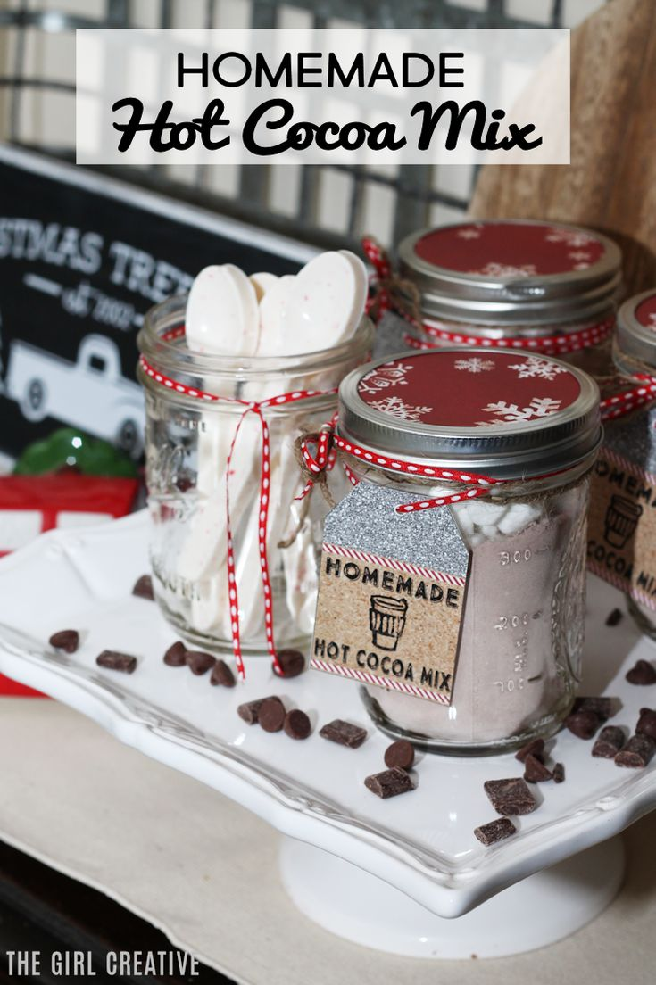 295 best christmas images on pinterest merry christmas christmas delicious homemade hot cocoa mix mason jar gift idea solutioingenieria Images