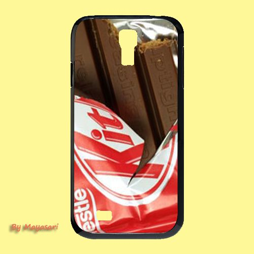 Chocolate - Kit Kat Hero Gift Print On Hard Plastic Samsung Galaxy S4, Black Case  Show off your signature style with a cool and customizable hard shell case for your Samsung Galaxy S4 I9500. Combinin