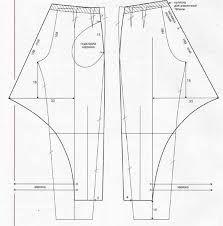 Resultado de imagen para patron para pantalon tulipan