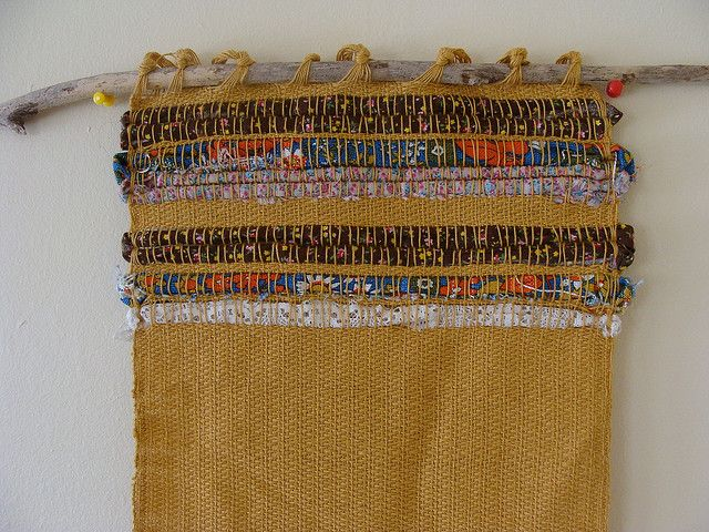weaving | Flickr Maybe do this with burlap