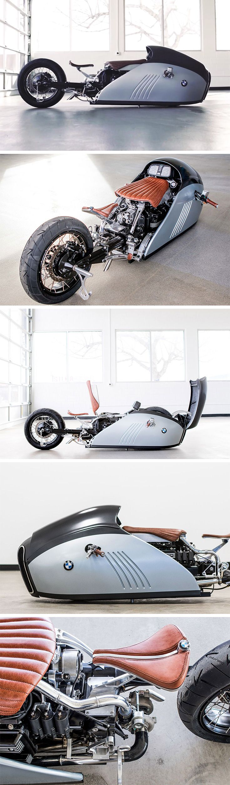 "What do you get when an old-school bike builder and a high-tech industrial designer put their heads together? The answer is a custom bike that's almost too beautiful to be ridden. It's called ""ALPHA"" – a sharklike custom BMW K75 cruiser with it's eye firmly on the land speed record."