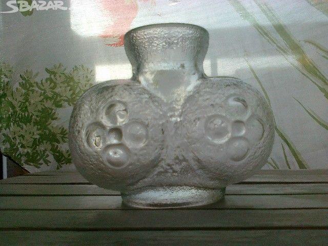 lisovaná váza 70.léta, Pavel Pánek, silné lisované - obrázek číslo 4