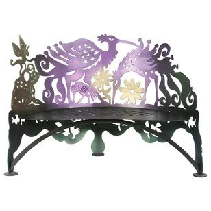 Eclectic Outdoor Benches by Cricket Forge