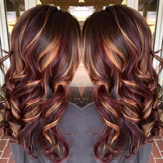 Best 25 Burgundy Hair With Highlights Ideas On Pinterest