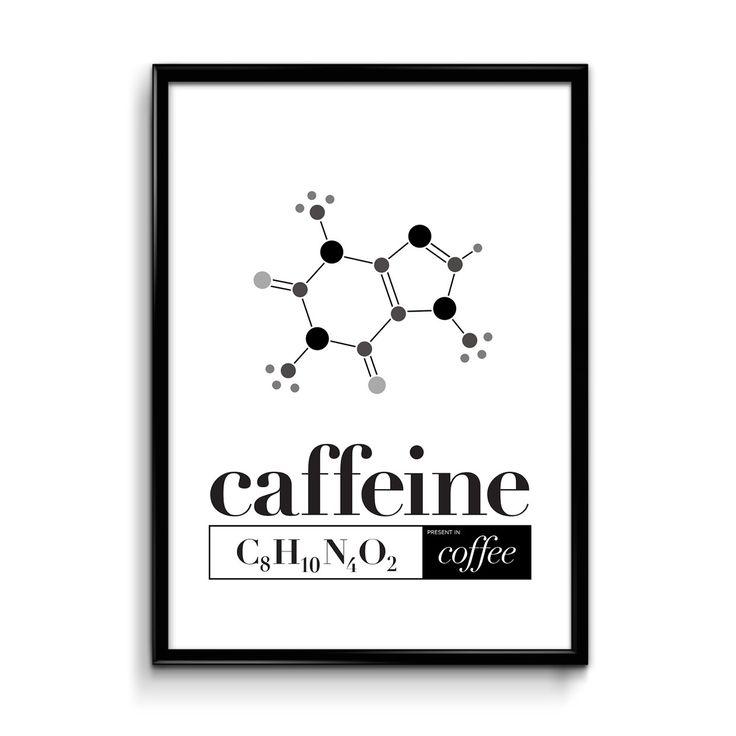 More coffee please > CAFFEINE CHEMISTRY print by YBcreative #ybcreative