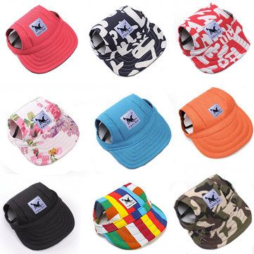 TAILUP Pet Dog Cat Baseball Hat Summer Canvas Cap Only For Small Pet Outdoor Hiking Accessories - Newchic Mobile.