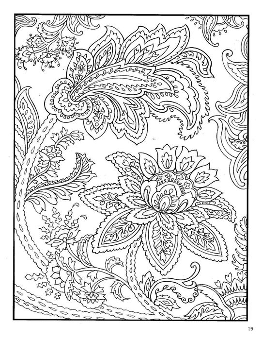 Paisley Designs Coloring Book Dover Page 31 541x700 271Kb
