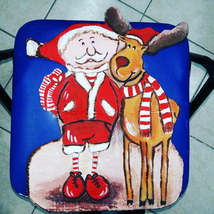 Άγιος Βασίλης με αλευροκολλα και ζωγραφική