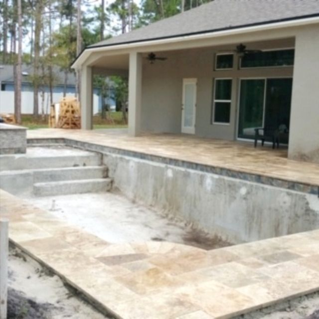 Ready For Screen And Plaster Pool Builders Pool Contractors Custom Home Builders